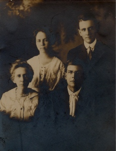 Cecil and his first wife Lillian, Sarah and Frank